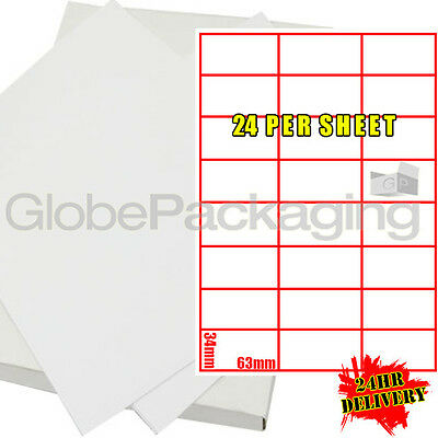 600 Sheets Of Printer Address Labels - 24 Per Page