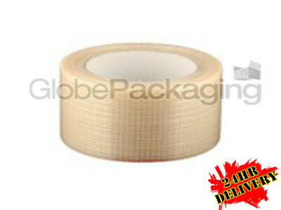 36 Rolls STRONG CROSSWEAVE REINFORCED TAPE 50mm x 50M