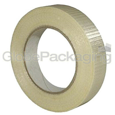6 Rolls Of STRONG CROSSWEAVE REINFORCED TAPE 25mm x 50M