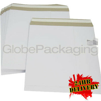 """300 x 12"""" STRONG WHITE LP RECORD MAILERS ENVELOPES 24HR"""