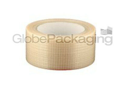 2 Rolls Of STRONG CROSSWEAVE REINFORCED TAPE 50mm x 50M