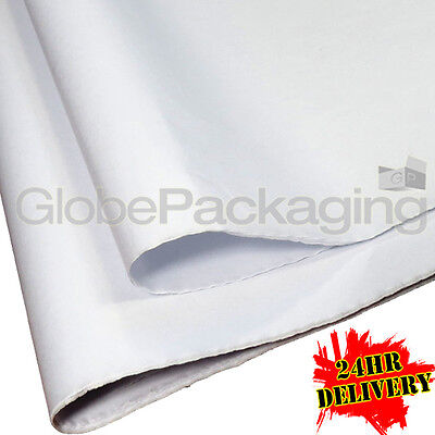 1000 SHEETS OF WHITE ACID FREE TISSUE PAPER 375x500mm