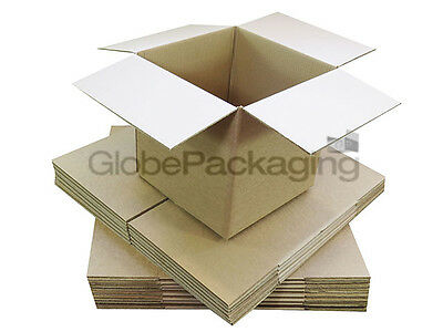 """20 x 6"""" CUBE SINGLE WALL CARDBOARD MAILING BOXES 6X6X6"""""""