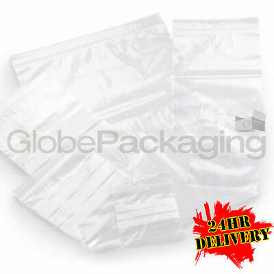 "2000 x Grip Seal Resealable Poly Bags 6"" x 9"" GL11"