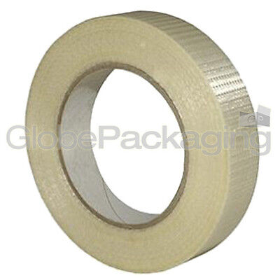 1 Roll Of STRONG CROSSWEAVE REINFORCED TAPE 25mm x 50M