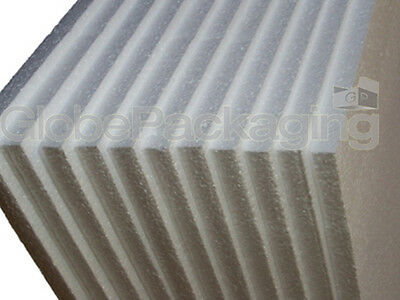 5 x POLYSTYRENE EPS FOAM PACKING SHEETS 600x400x25mm