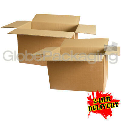 """20 Strong Large Single Wall Cardboard Boxes 22x14x14"""""""