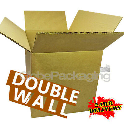 "15 x 12x9x9"" DOUBLE WALL CARDBOARD MAILING MOVING BOXES"