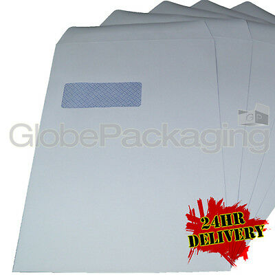 250 x C4/A4 WHITE WINDOW SELF SEAL ENVELOPES 90gsm