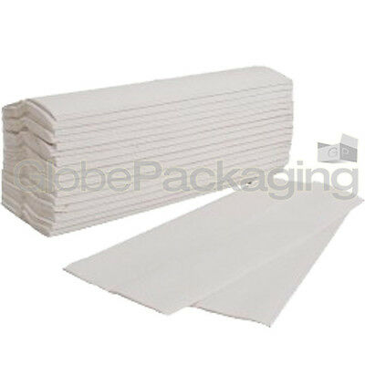 120 x WHITE 2 PLY C-FOLD PAPER HAND TOWELS MULTI FOLD