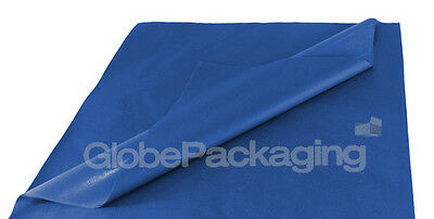 100 SHEETS OF ROYAL BLUE ACID FREE TISSUE PAPER 375mm x 500mm *HIGH QUALITY*