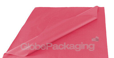 50 SHEETS OF CERISE COLOURED ACID FREE TISSUE PAPER 500mm x 750mm *HIGH QUALITY*