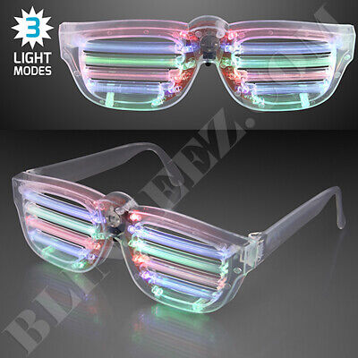 LED Flashing LightUp Blinking Glow Sunglasses Party FUN!