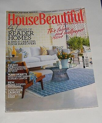 House Beautiful April 2012  - The Fabric And Wallpaper Issue