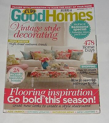 Good Homes September 2011 - Vintage Style Decorating/flooring Solutions