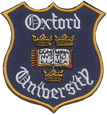 Oxford University Flag Embroidered Patch Badge - Official Merchandise