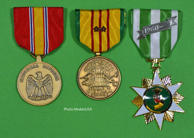 Vietnam Campaign, National Defense and Service Medal with 2 campaign stars