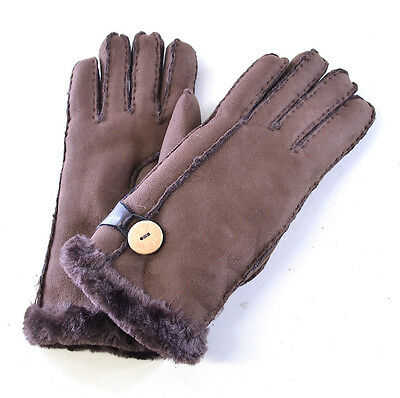 Suzette Faux Sheepskin Shearling Fur Womens Gloves Warm Soft Cozy 5 Colours