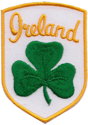 Ireland Irish Shamrock Shield Embroidered Patch Badge