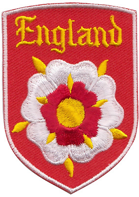 England Old Tudor Rose Embroidered Patch Badge
