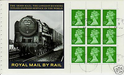 Great Britain 1986 Royal Mail Train Booklet Pane Fine Used