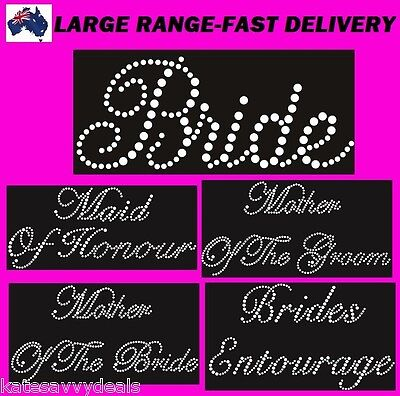 Bride Iron On Transfer Rhinestones,bridesmaid,mother Of Bride,many More