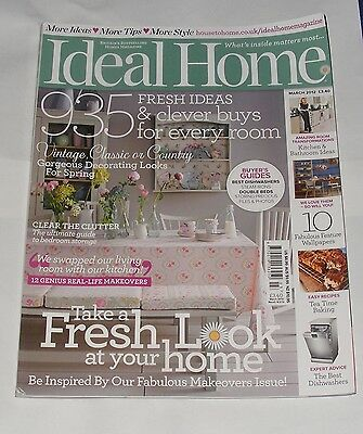 Ideal Home March 2012 - Decorate With Florals/extreme Makeovers