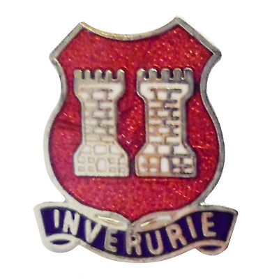 Huntly Aberdeenshire Scotland Small Town Crest Pin Badge