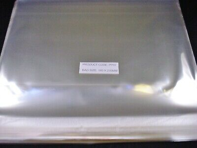200 x Cello Reseal Bags 125 x 180mm Cellophane Lolly Sweet Candy FREE POSTAGE