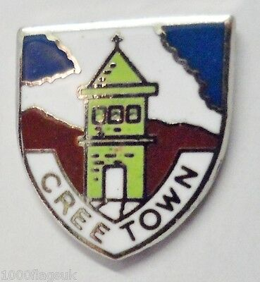 1302 Wigtown Dumfries /& Galloway Scotland Small Town Crest Pin Badge