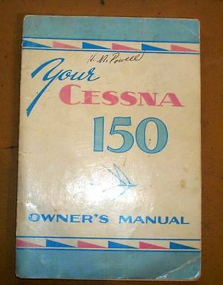 1959 and 1960 Cessna 150 Owner's Manual