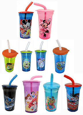 Disney Mickey Minnie Mouse Avengers Spiderman Princess Kids Tumbler Drinking Cup