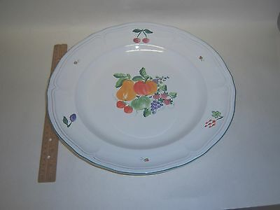 Herend Village Pottery Fancy Fruits Chop Plate