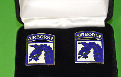 18th Airborne Army Cufflinks in Presentation Gift Box XVIII Corps
