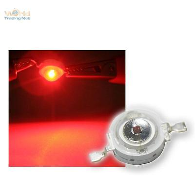 Highpower LED 1W Rot, 1 W rote High Power SMD LEDs, 1 Watt 350mA red rouge rosso