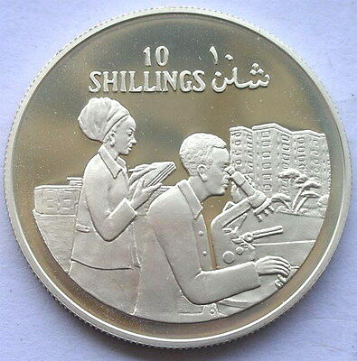 Somalia 1979 Scientist 10 Shillings Silver Coin,Proof
