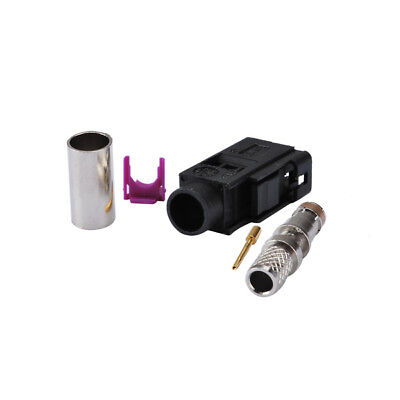 Fakra A Black female connector for cable LMR195 RG58