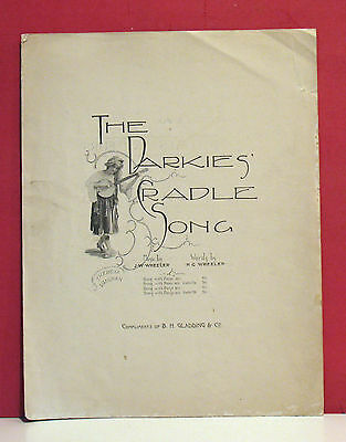 Black Americana Sheet Music - The Darkies' Cradle Song - 1893