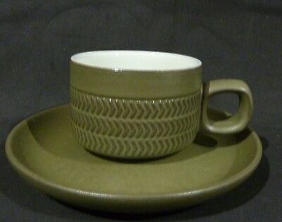 DENBY CHEVRON COFFEE CUP & SAUCER,5 cm high cup