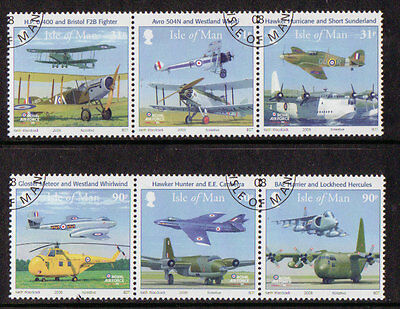 Isle Of Man 2008, Royal Air Force Set Of 6 Fine Used