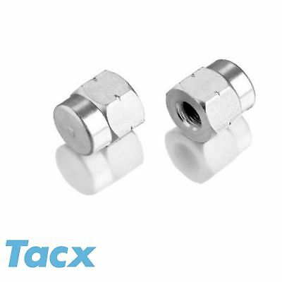 "Tacx Axle Nuts For Non Quick release Wheels 3/8""  or 10mm (pair) Bike Bicycle"