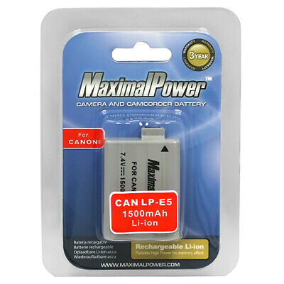 Battery LP-E5 for CANON EOS 450D 500D Rebel XSi Rebel T1i Xsi (1 pack)