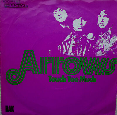 """7"""" 1974 GLAM RARE ! ARROWS : Touch Too Much // MINT- \"""