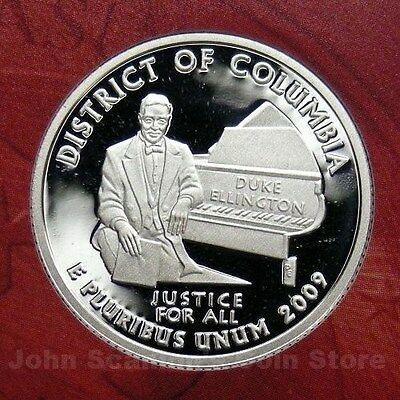 2009-S District of Columbia Quarter Gem Proof Deep Cameo (90% Silver)