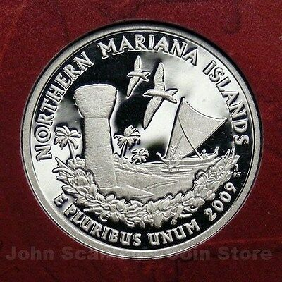 2009-S N Mariana Islands US Territory Quarter Gem Proof Deep Cameo (90% Silver