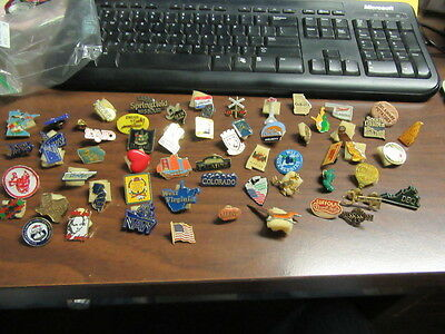 62 Hat Pins collected from National Jamborees--states, roadrunner, places,  p50