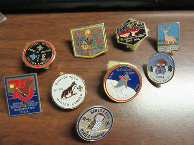 Baltimore Area Council lot of 9 Camp and Activity Hat Pins  p89