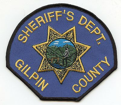 Gilpin County Colorado Co Sheriff Police Patch