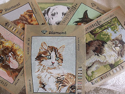 Diamant Printed Tapestry Canvas. 6  Designs.  Horse, Cats, And Dogs