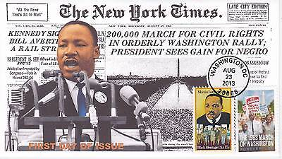 Jvc Cachets -2013 March On Washington Issue #2 First Day Cover Fdc Martin L King